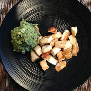 Breakfast is Halloumi with a side of mashed avocado withhellip