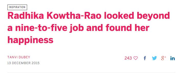 Her Story Radhika Kowtha-Rao Rads inspiration published
