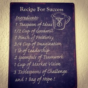 Yep A recipe regardless of how you envision success hellip