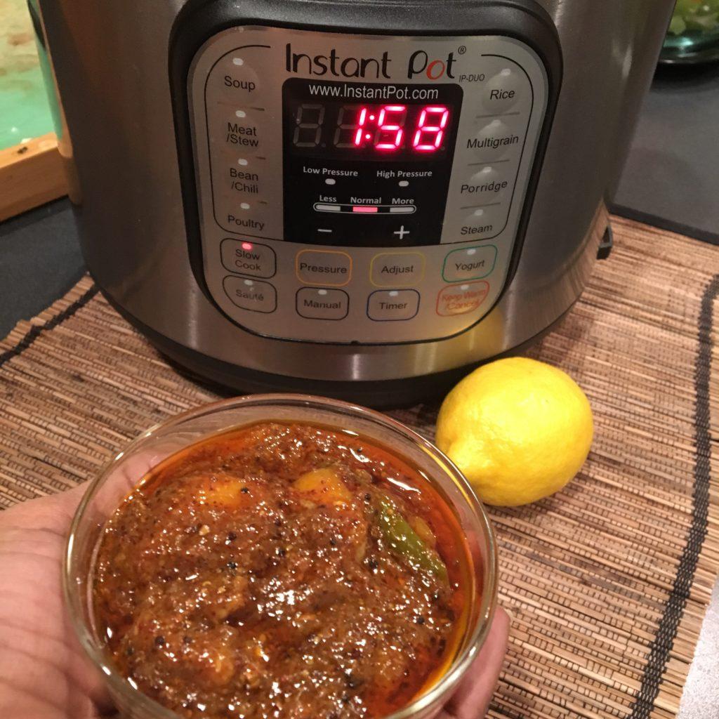 instant pot, lemon pickle rads